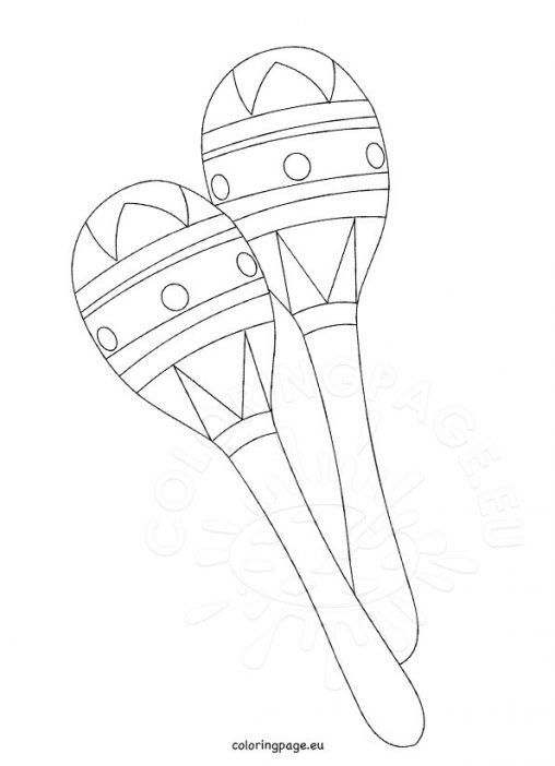 maracas coloring page - nature coloring page