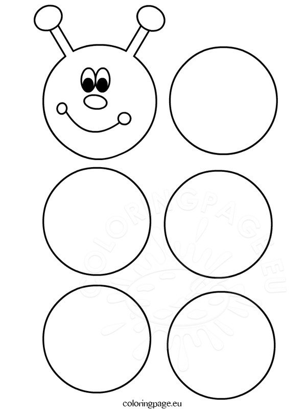 Printable caterpillar template coloring page for Very hungry caterpillar templates free