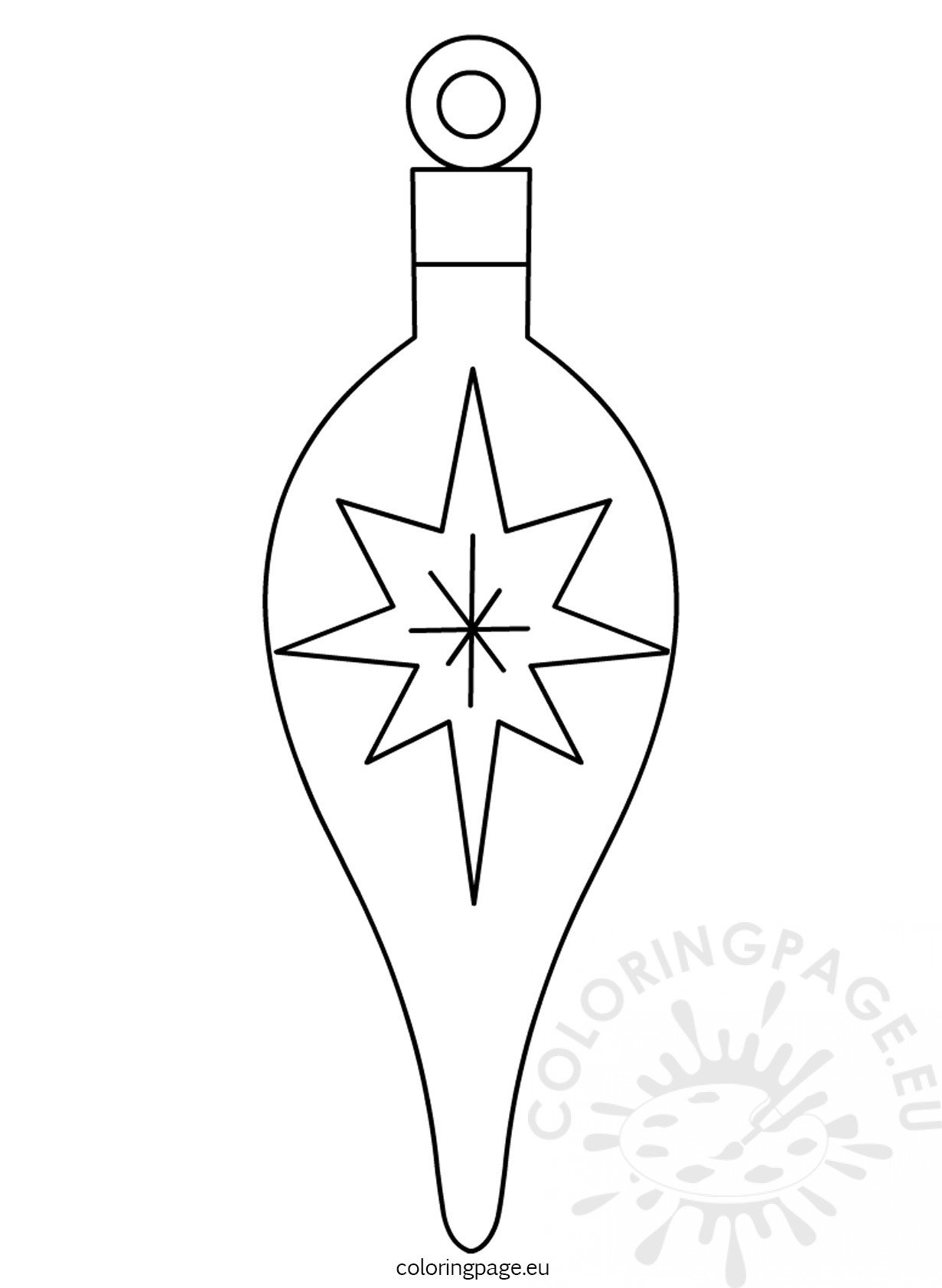 Christmas Tree Ornament Printable Coloring Page Tree Ornament Coloring Pages