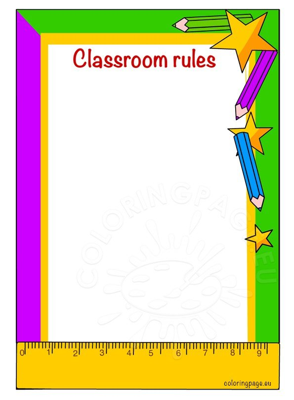 Classroom rules printable – Coloring Page