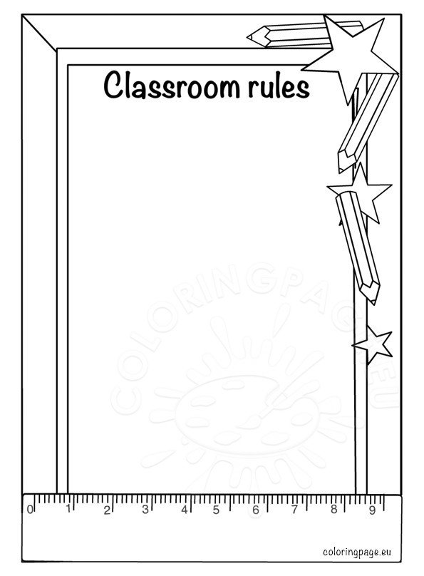 classroom coloring pages - photo#24