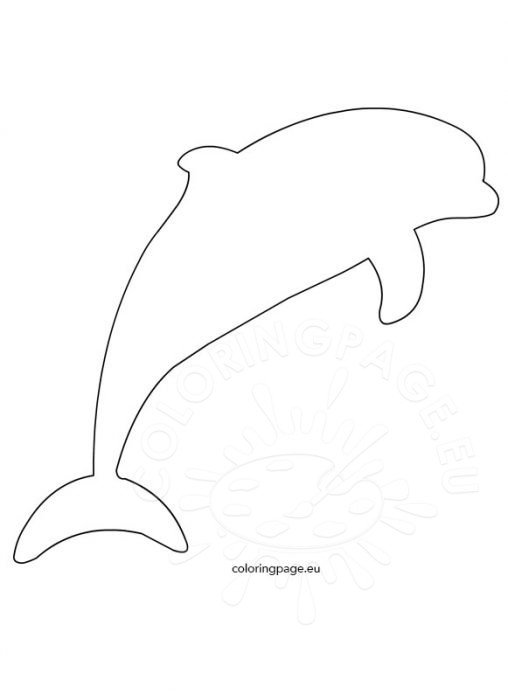 Dolphins - Coloring Page