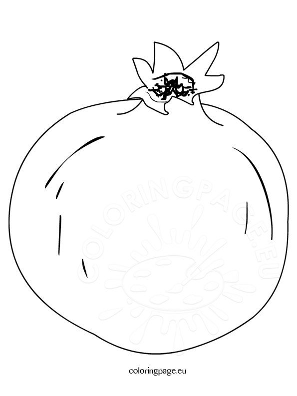 Pomegranate Clip Art Coloring Page