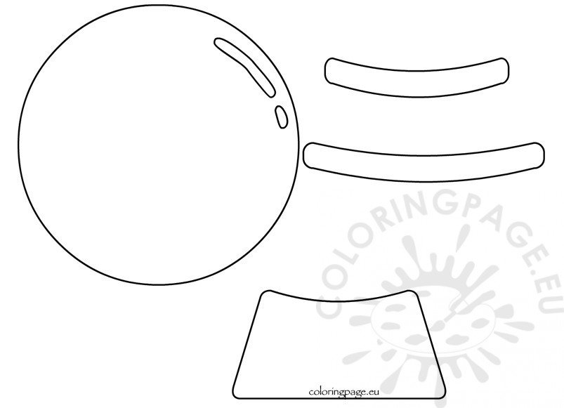 picture about Printable Globes named Printable Snow Planet Form Template Coloring Webpage