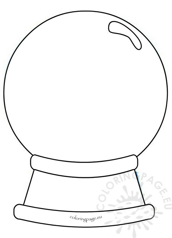 Snow globes Preschool Printables - Coloring Page