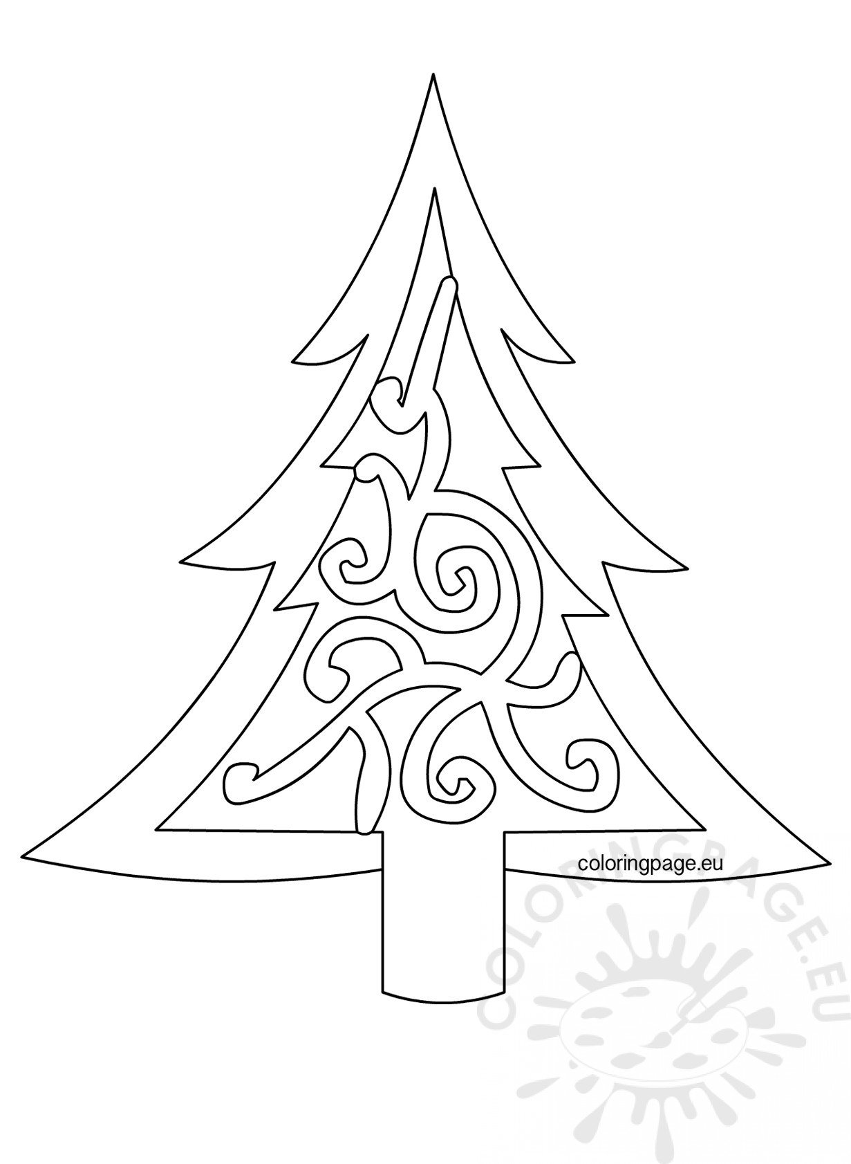 xmas tree template printable