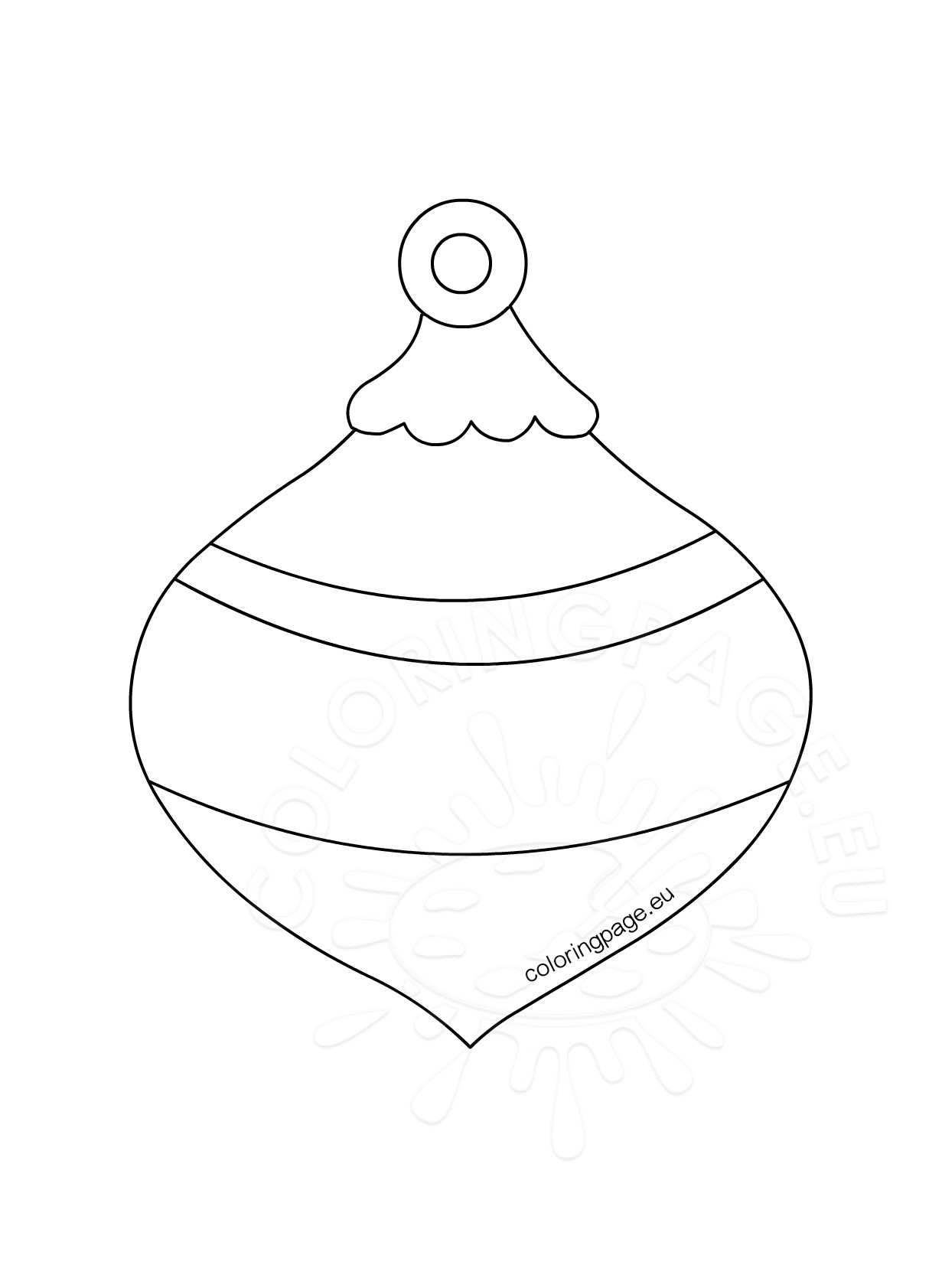 Honeycomb Christmas Ornament template - Coloring Page