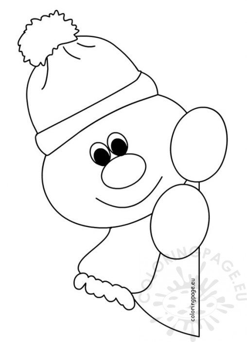 cartoon snowman coloring pages - winter coloring page