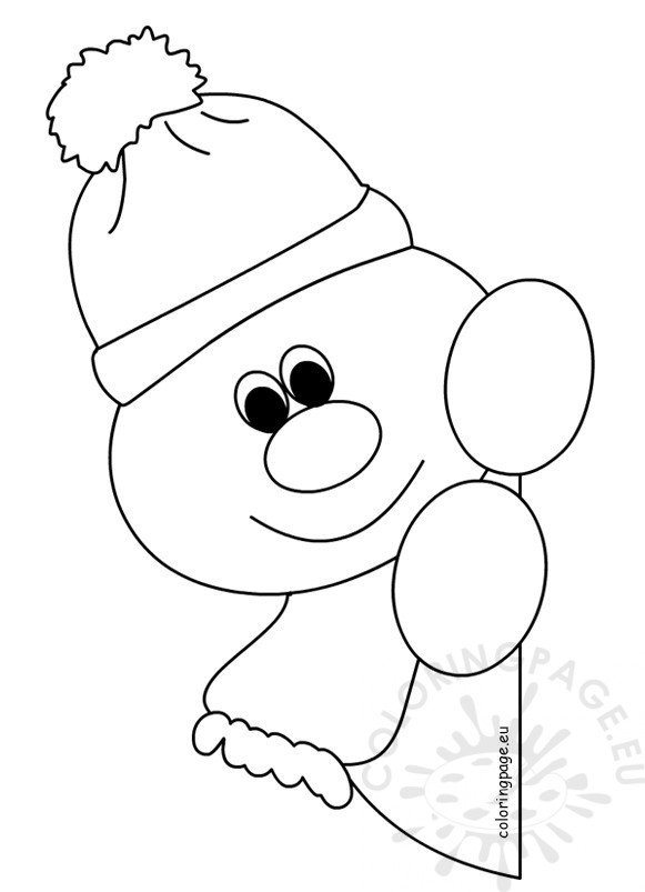Window snowman coloring pages for preschool