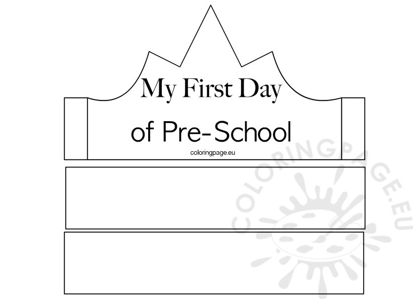 share - First Day Of Preschool Coloring Pages