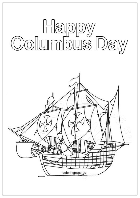 columbus day coloring pages printable - columbus day ship coloring page coloring page