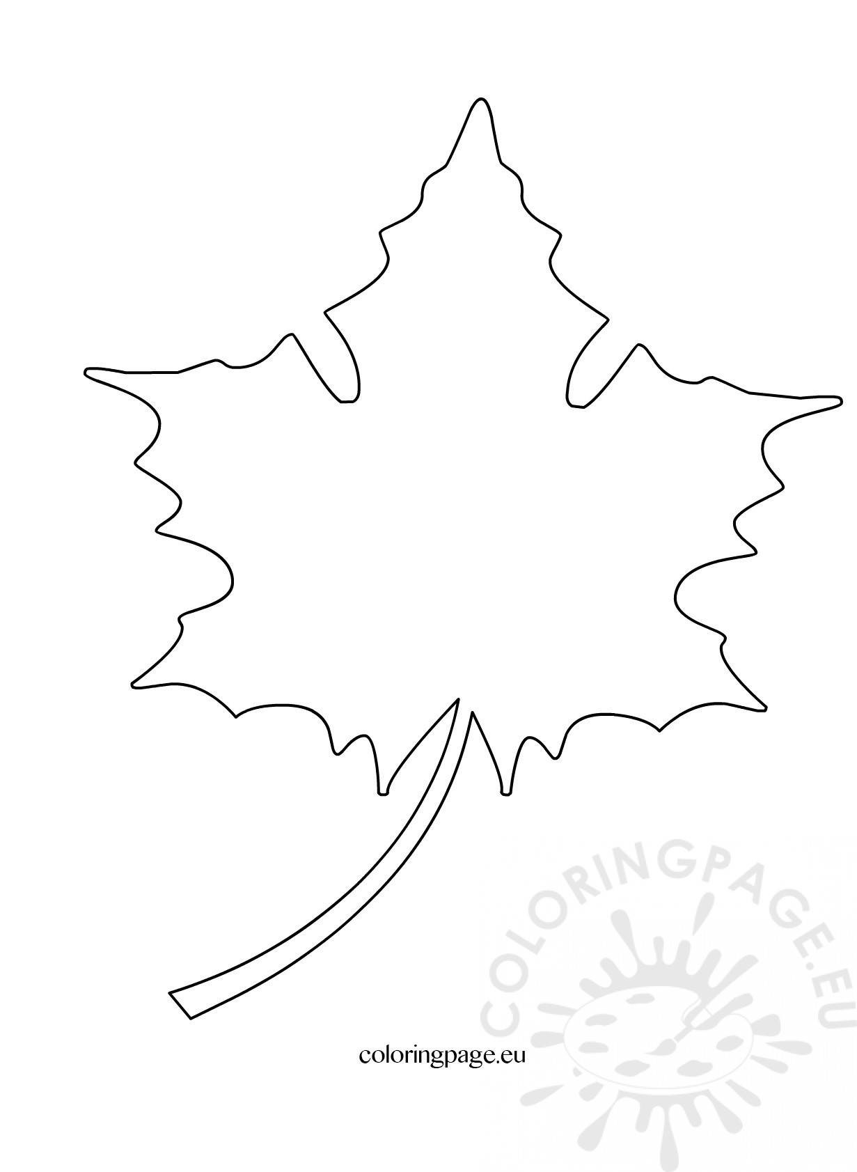 Maple leaf cut out pattern coloring page maple leaf cut out pattern pronofoot35fo Image collections
