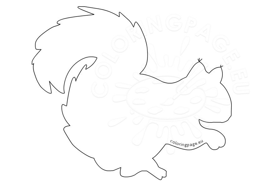 Printable squirrel template | Coloring Page