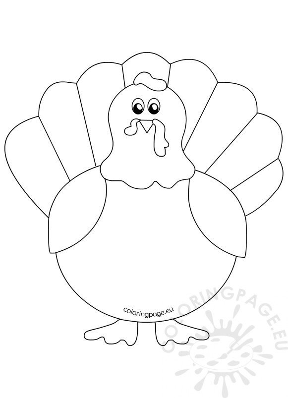 It is a picture of Fabulous Turkey Outline Printable