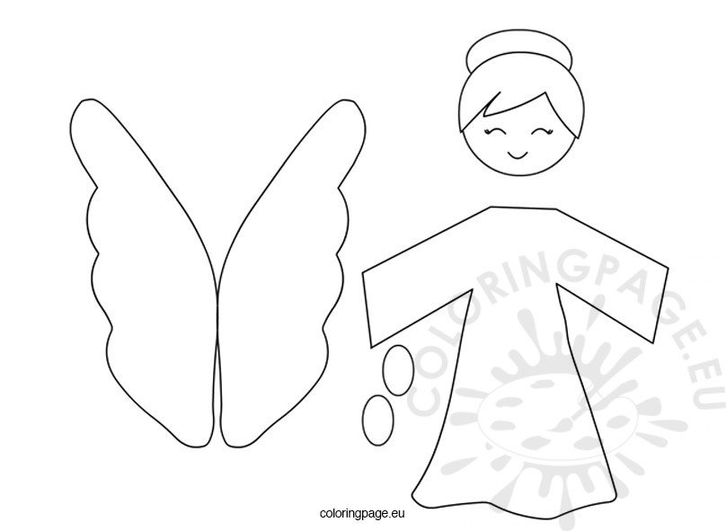 Angel Christmas template