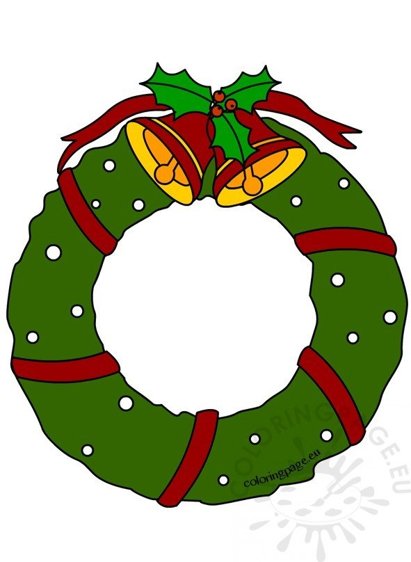 Christmas wreath with bells Clipart