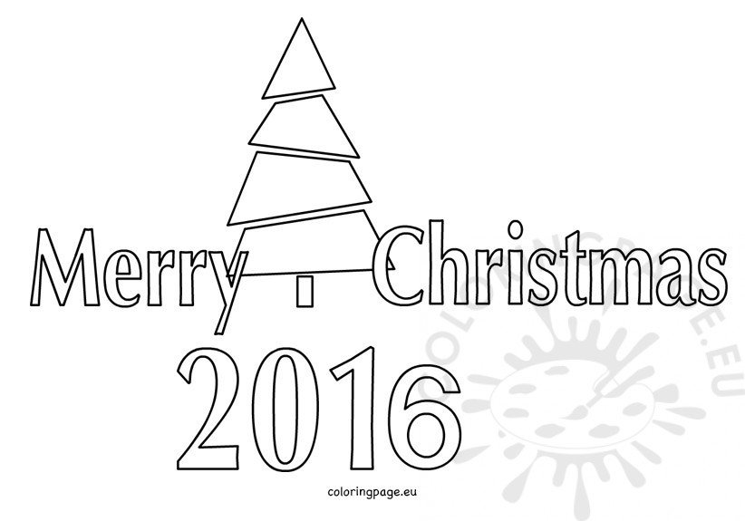 Merry Christmas 2016 coloring pictures