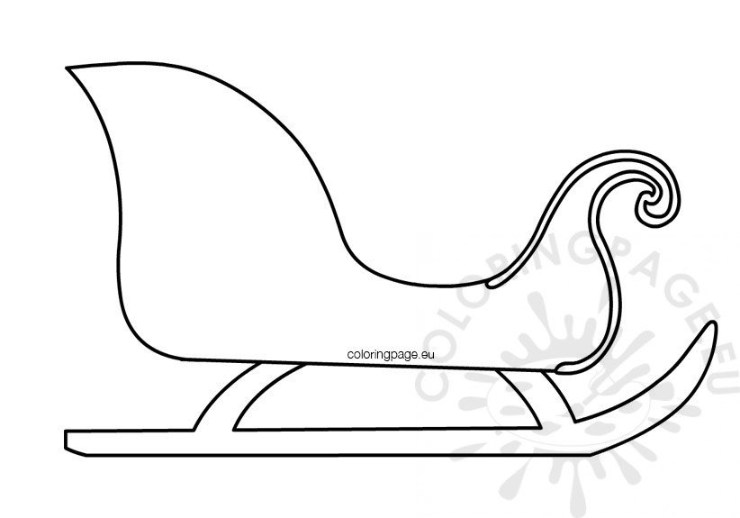 It is a picture of Challenger Free Printable Santa Sleigh Templates