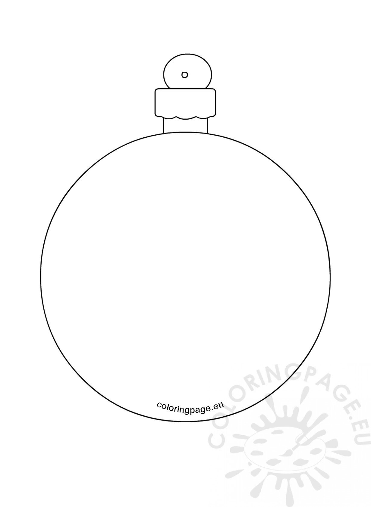 christmas baubles templates to colour - christmas tree bauble coloring page