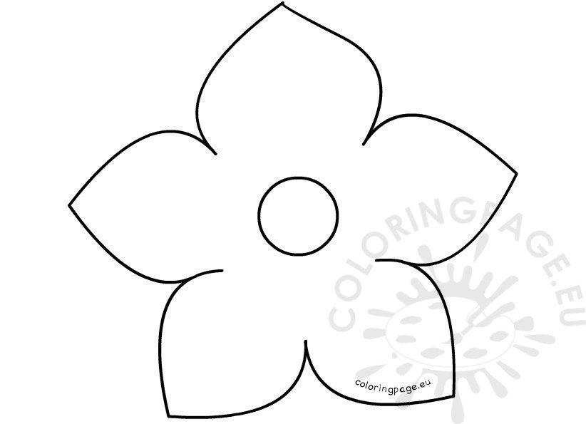 photograph regarding 5 Petal Flower Template Free Printable identify Printable 5 Petal Flower Template Coloring Web page