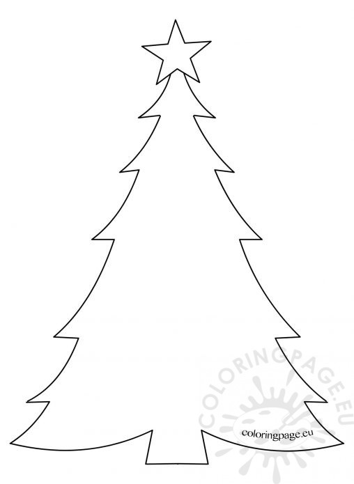 Christmas Tree Template Colouring : Holiday coloring page