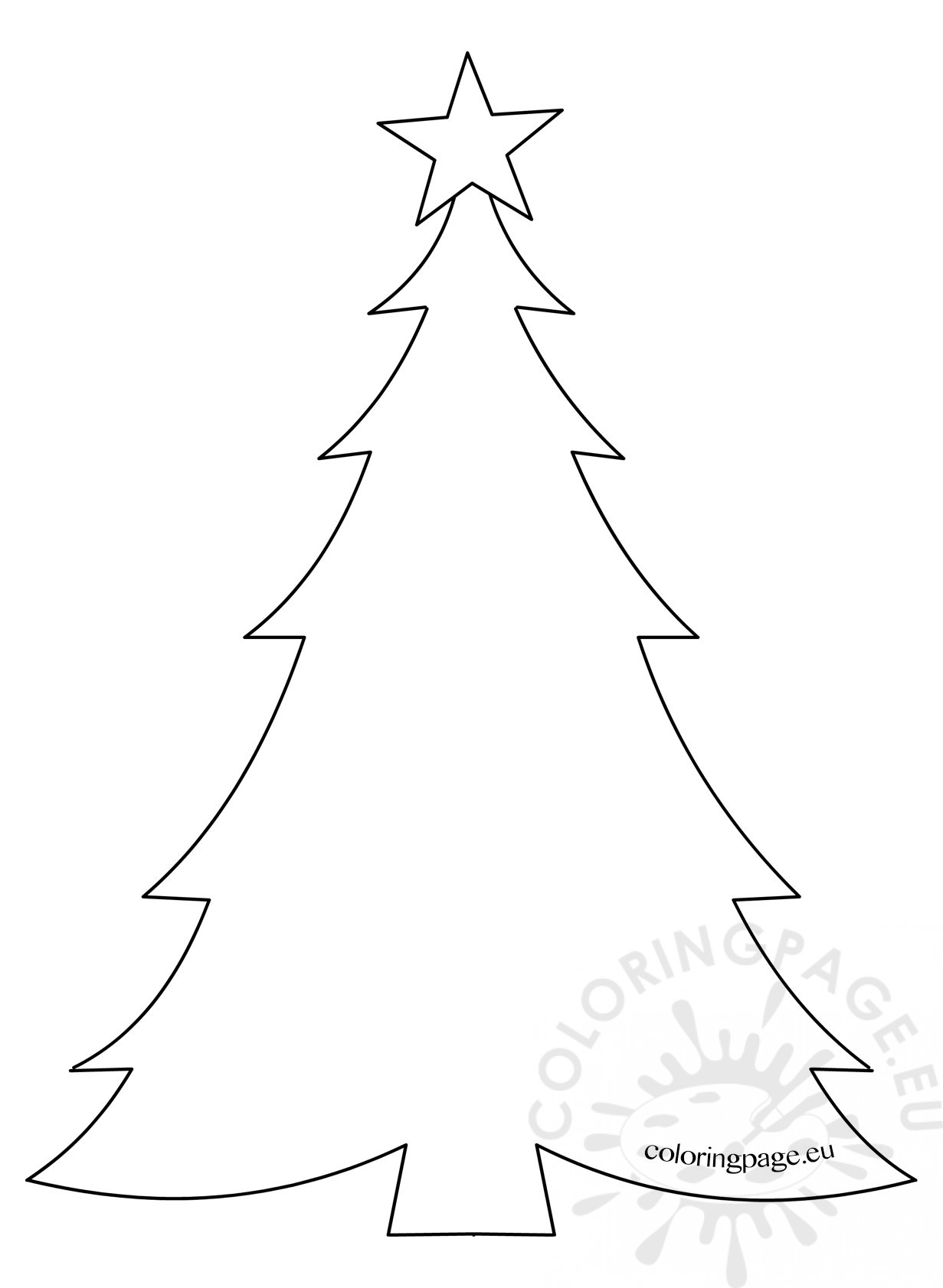 Template Christmas Tree with star