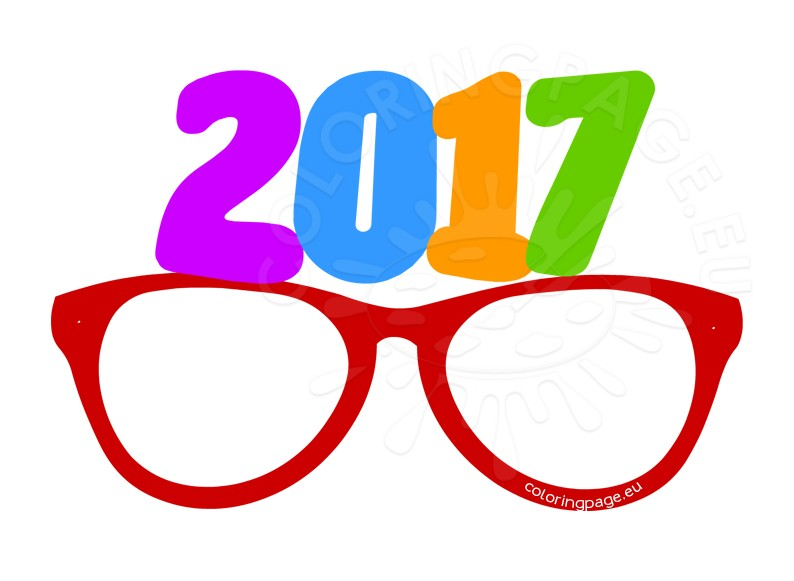 Party glasses New Year 2017
