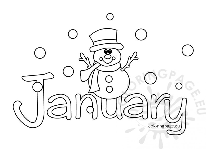 January coloring sheets Coloring Page