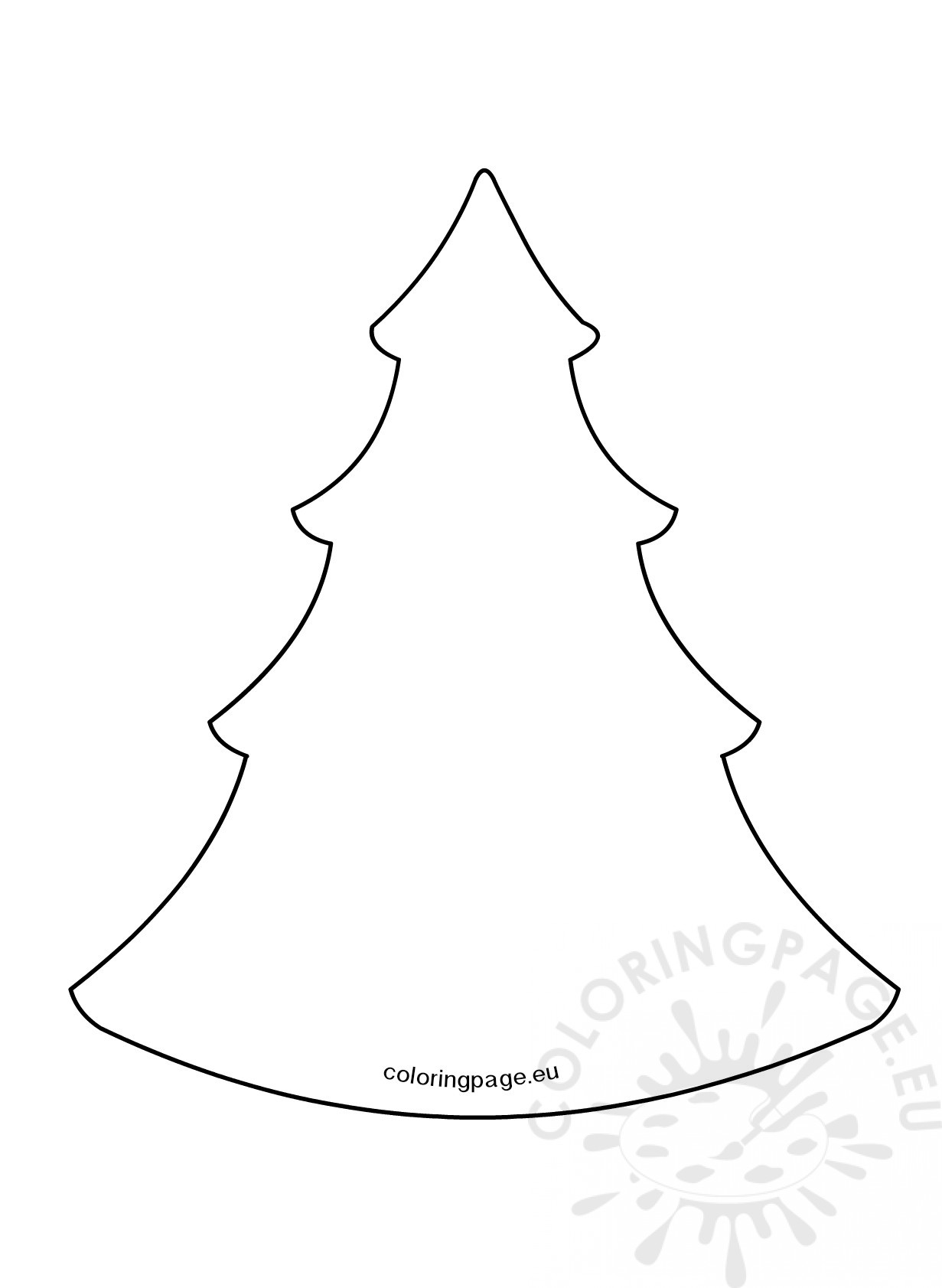 Simple christmas tree pattern – Coloring Page
