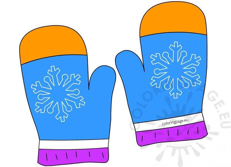 Winter Clothing Clip Art - Coloring Page