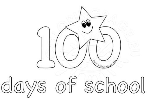 Coloring page for 100 days of school coloring page
