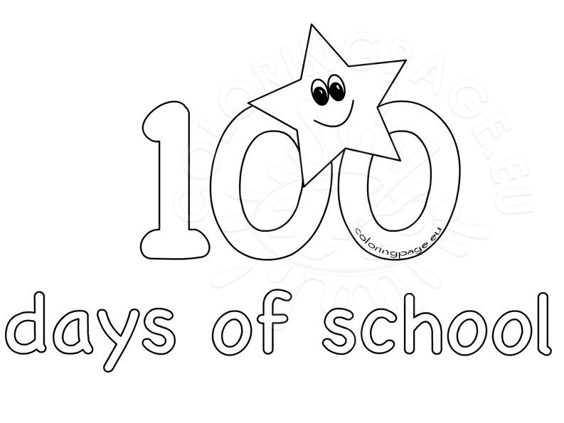 100th Day School coloring sheets