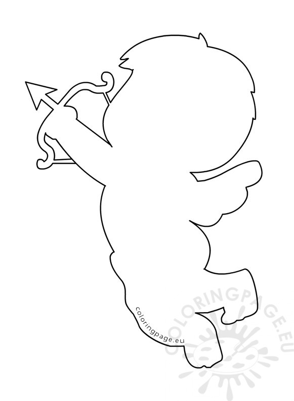 Cupid with Bow and Arrow template