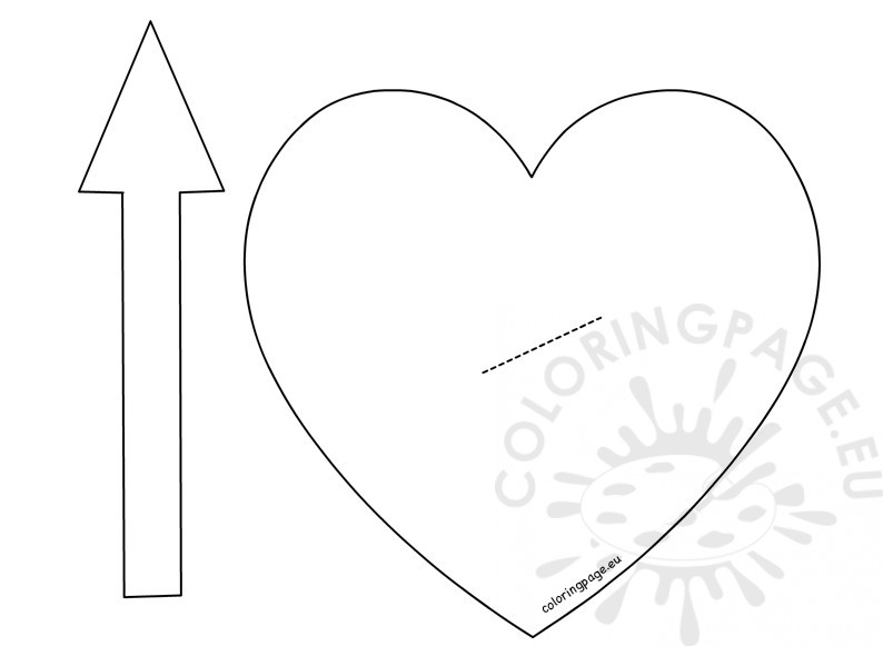 Printable Heart pattern with Arrow