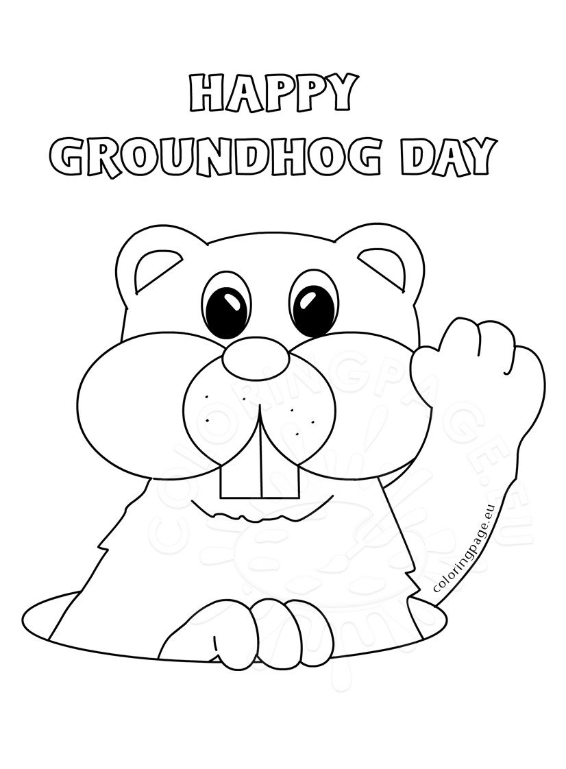 Groundhog day 2017 Marmot Coloring