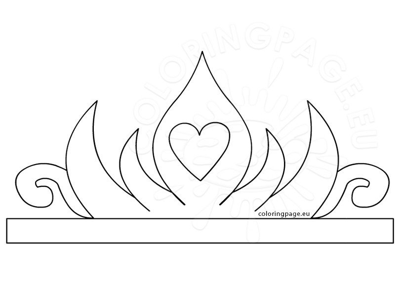 Princess paper crown printable coloring page for Paper crown template for kids