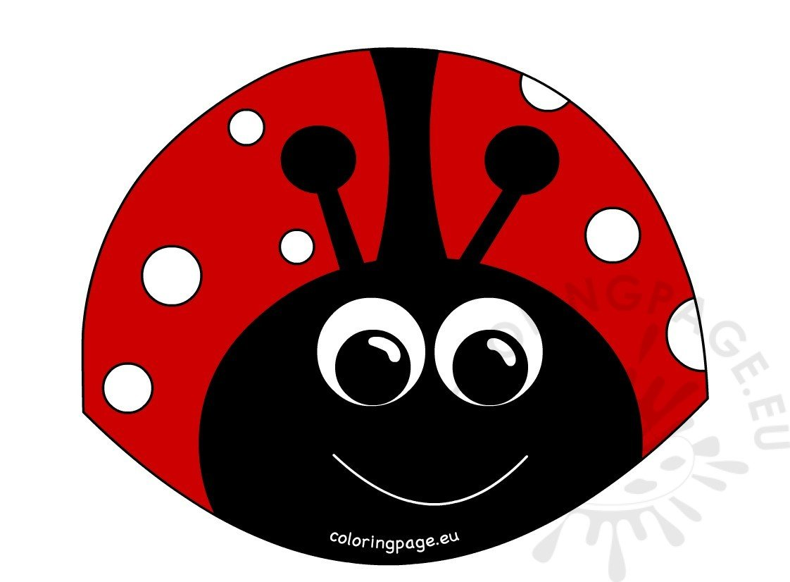 Red Ladybug cartoon smiling