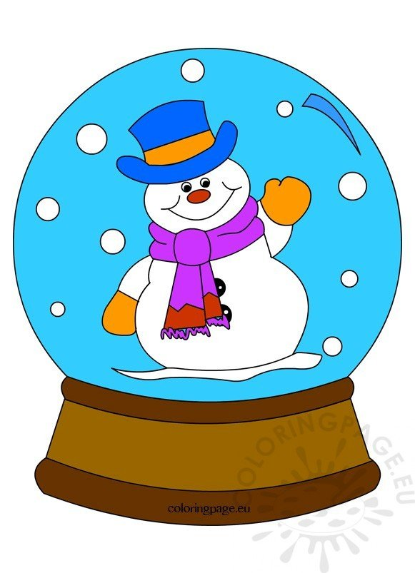 Snowman Snow Globe image