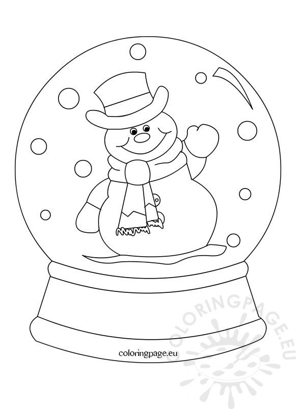 Snowglobe clipart black and white