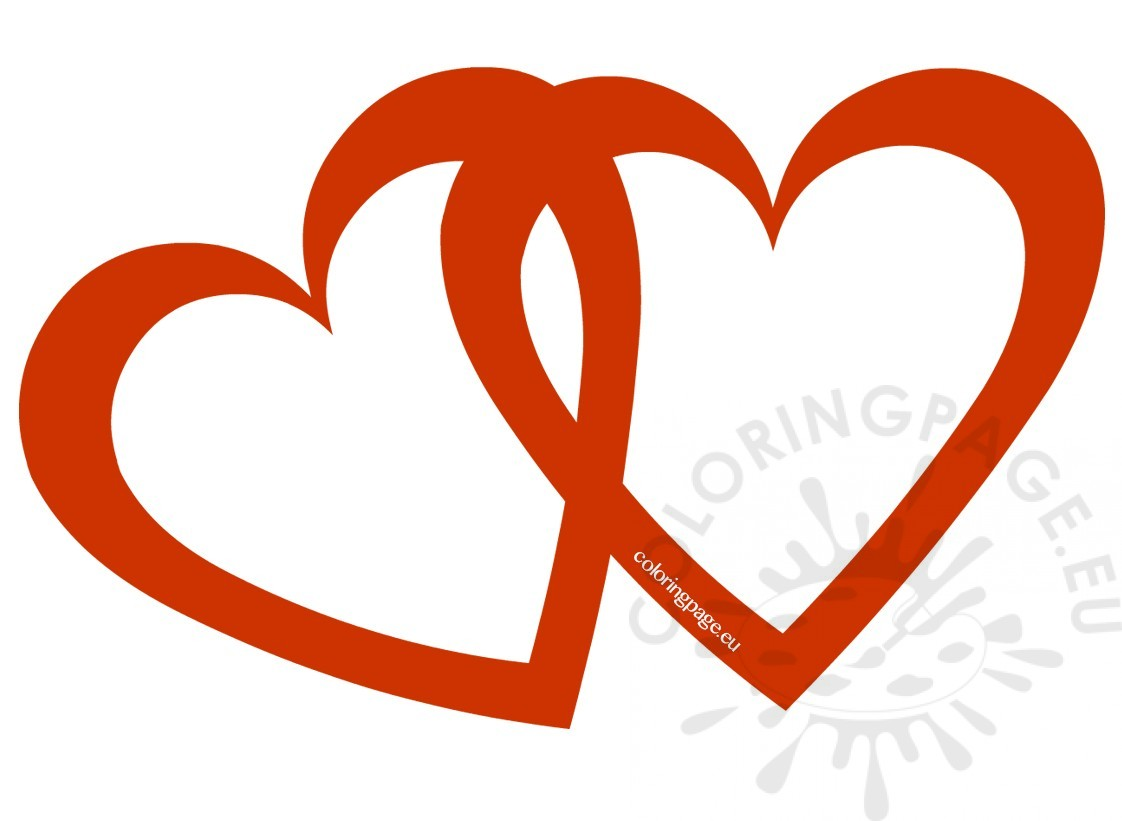 Two lovely Valentine hearts clipart