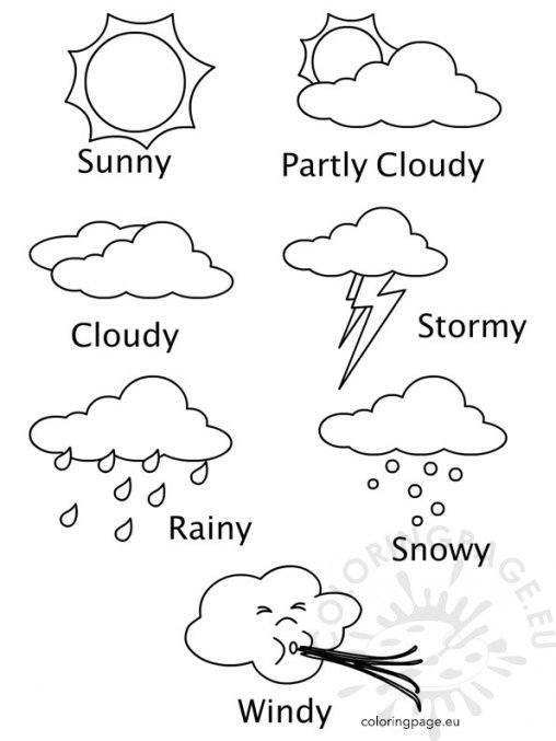 Coloring page for Weather coloring pages printable