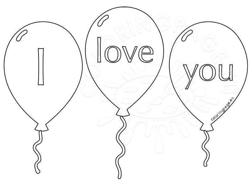 Valentine S Day 2017 Balloon Outline Coloring Page