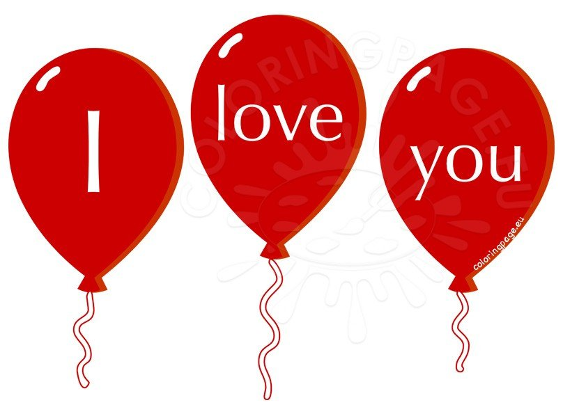 I Love You Balloons clipart