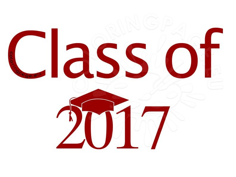 Senior Class of 2017 red clipart
