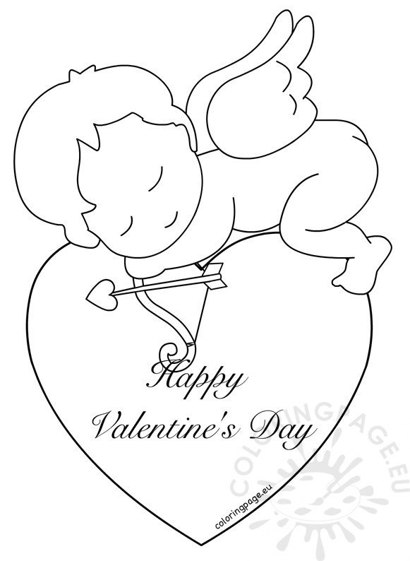 Happy Valentines Day Greeting Baby Cupid