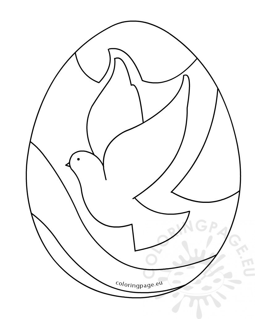 images easter egg dove of peace coloring page
