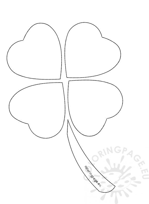 Four leaf clover outline