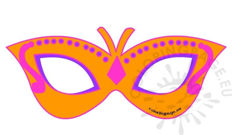 Printable girl butterfly mask