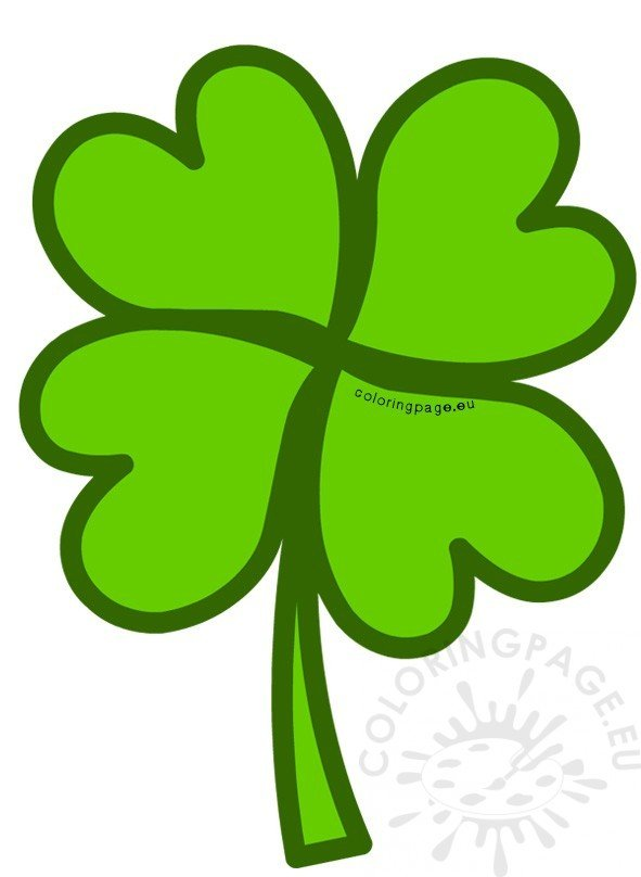 Green Four Leaf Clover clipart