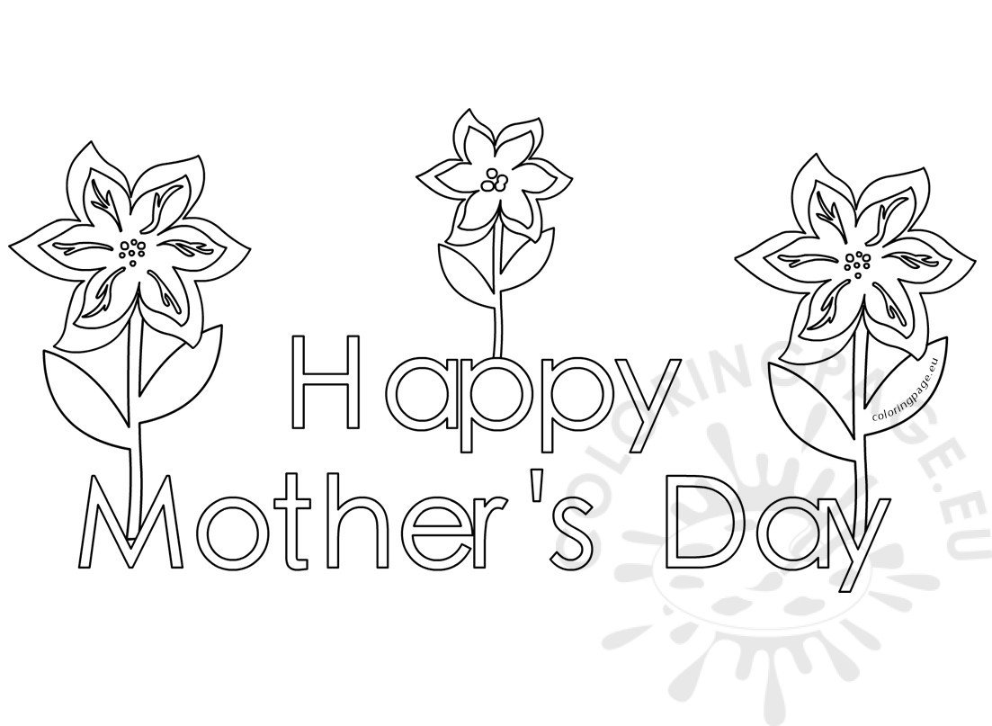 Happy Mothers Day Coloring Pages Free for Kids